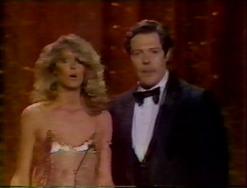 Farrah Fawcett and Marcello Mastroianni
