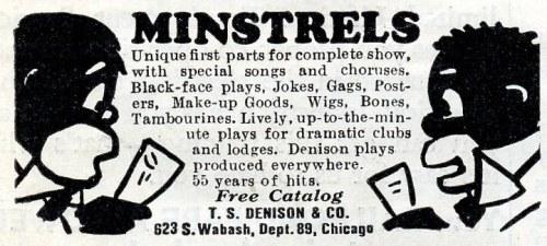 minstrel supplies