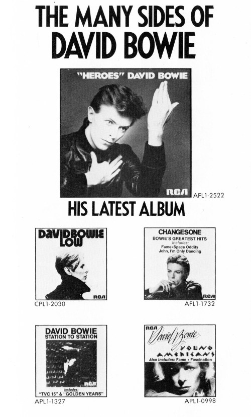 The Many Sides of David Bowie