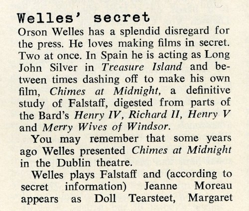 Welles March 1965