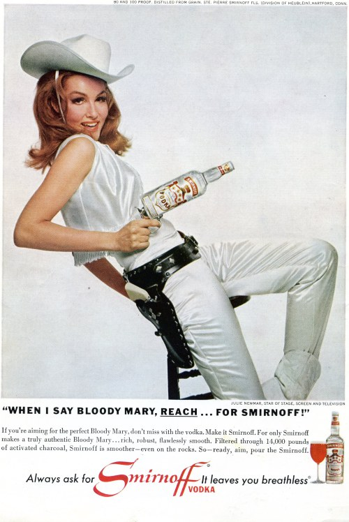 Julie Newmar for Smirnoff