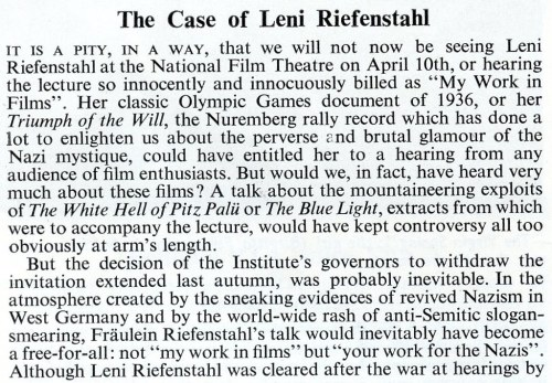 The Case of Leni Riefenstahl